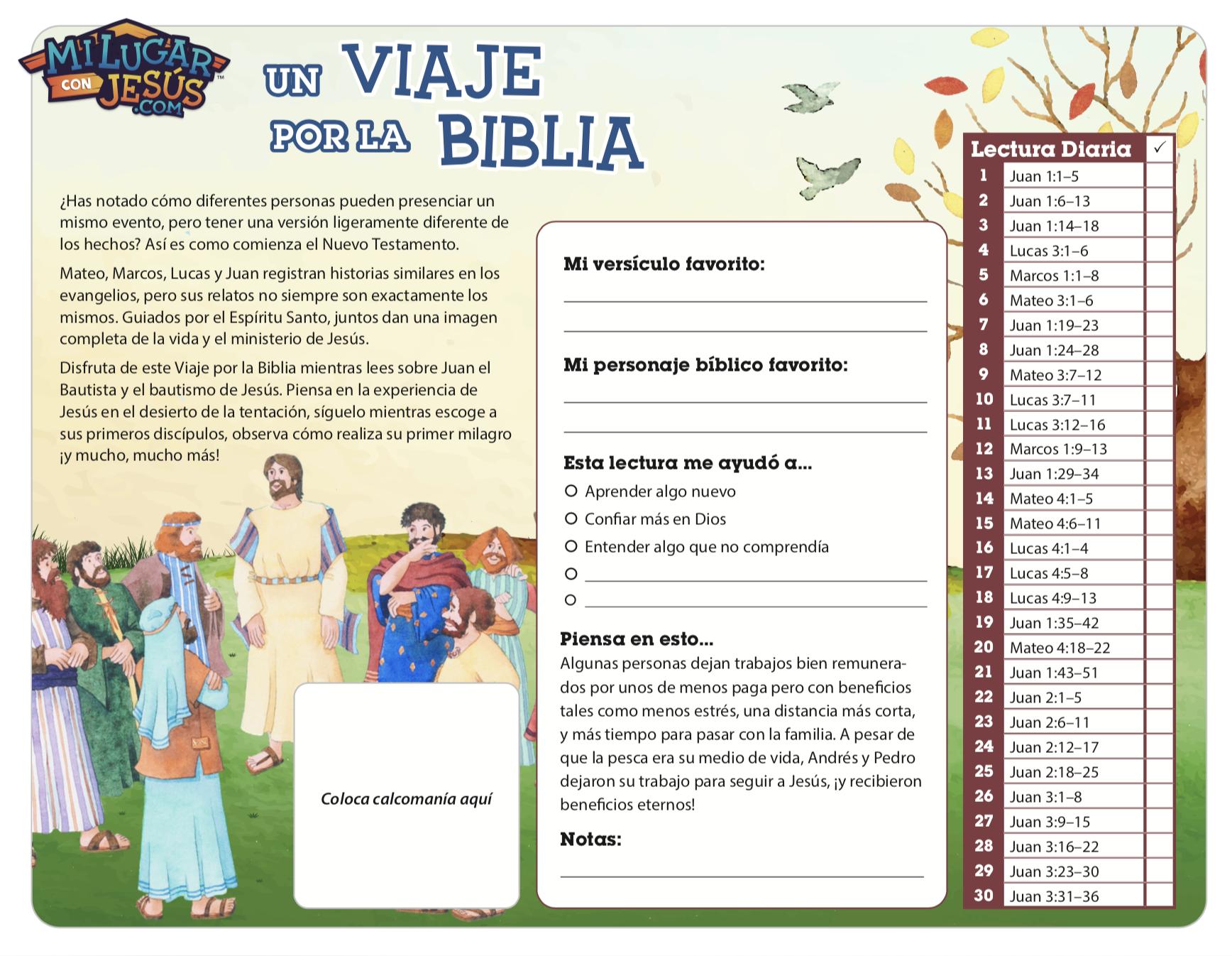 Lectura biblica mensual febrero 2020