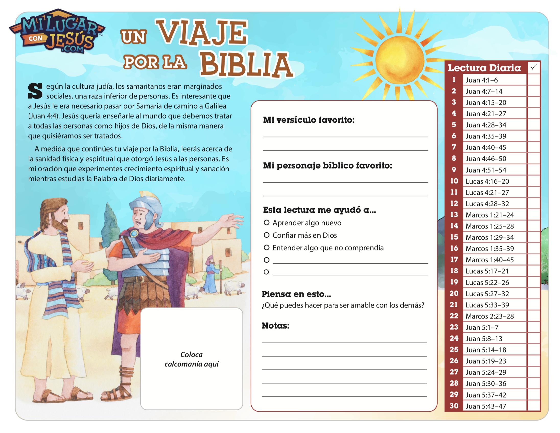 Lectura biblica mensual marzo 2020