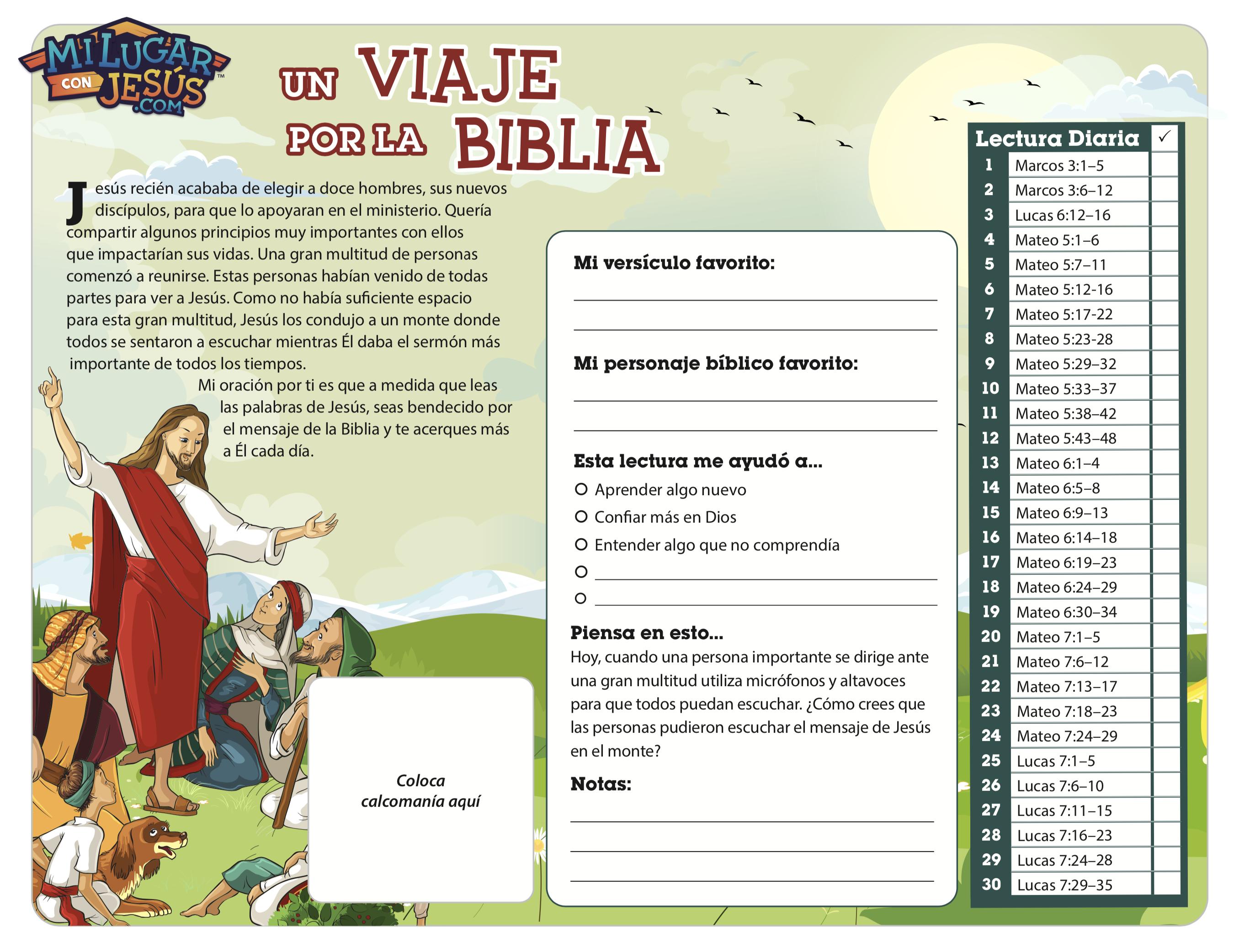 Lectura biblica mensual abril 2020