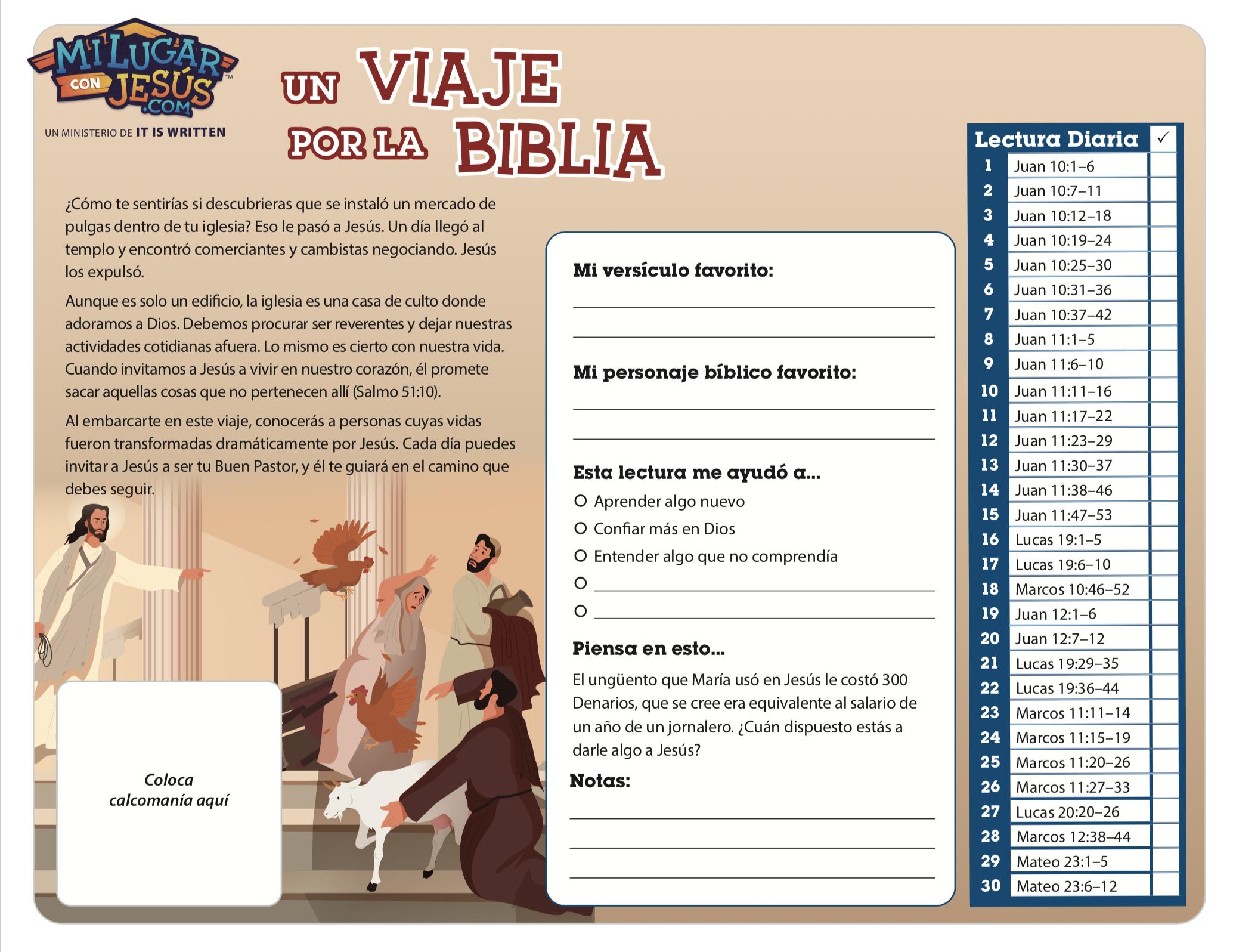 Lectura biblica mensual agosto 2020