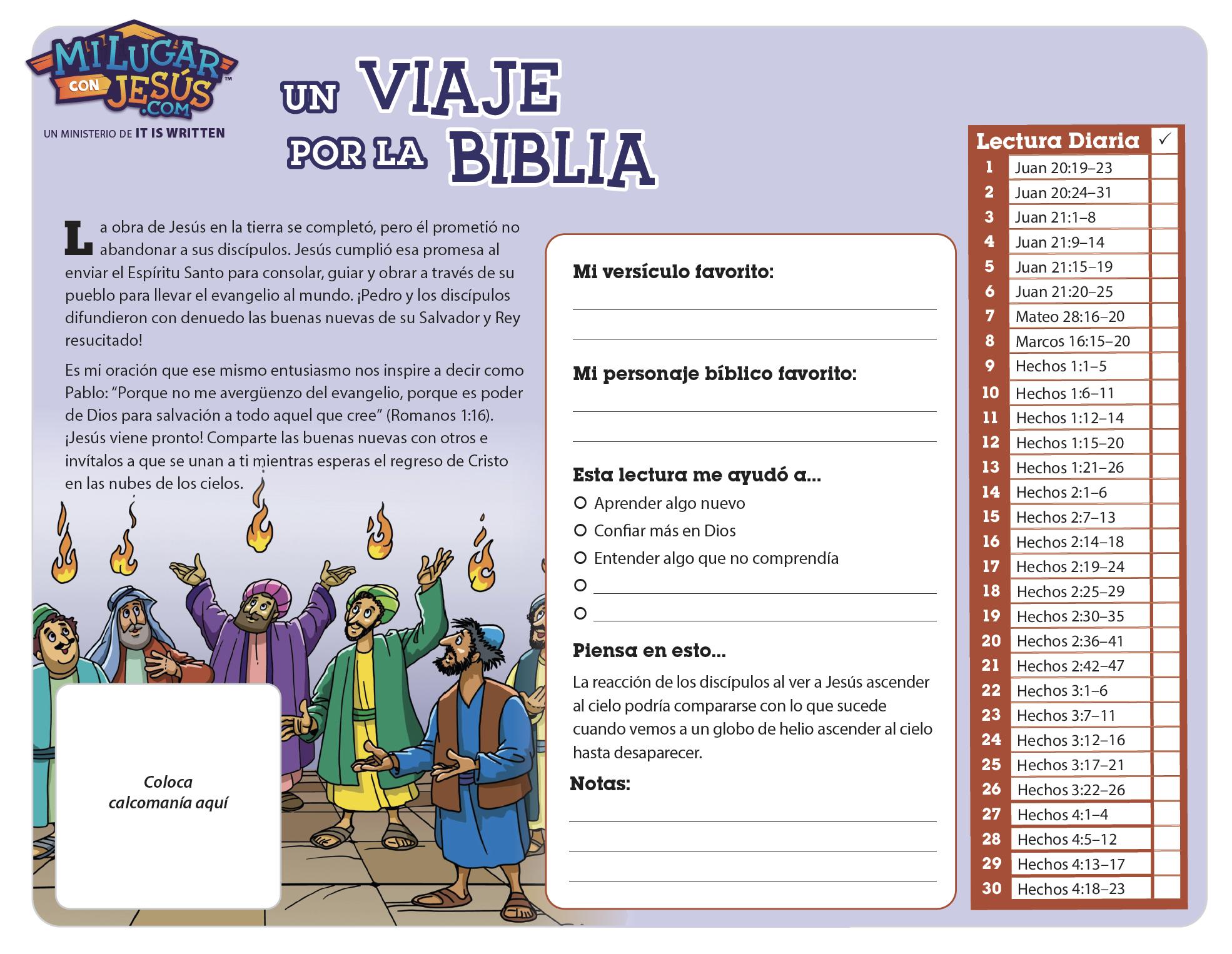Lectura biblica mensual diciembre 2020
