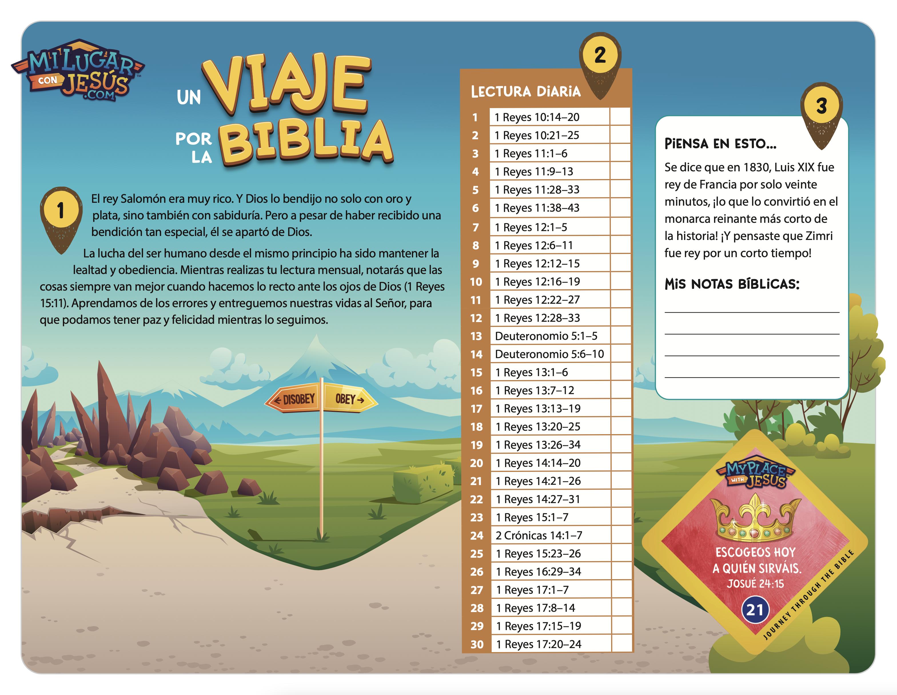 Lectura biblica mensual septiembre 2021